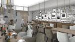Raumundfunktion, Innenarchitektur, Cafe, Restaurant, Nasca, Nascacafe, Nascarestaurant, München, RestaurantMünchen, Latino,
