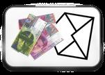 """Bei uns """"der-Wegweiser"""" kann Bargeld in einem Briefcouvert gesendet werden"""
