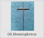 Sargkreuze, Messingkreuz