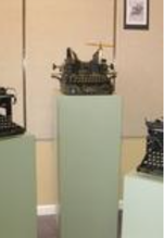 "The Dekker-Huis/Zeeland Historical Museum's latest exhibit, ""Just My Type,"" showcases several vintage manual typewriters from the museum's storage area. Contributed"