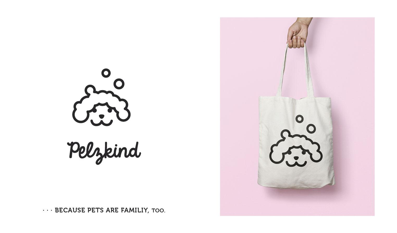 Hundeliebhaber Corporate Design Logo Claim Jutebeutel