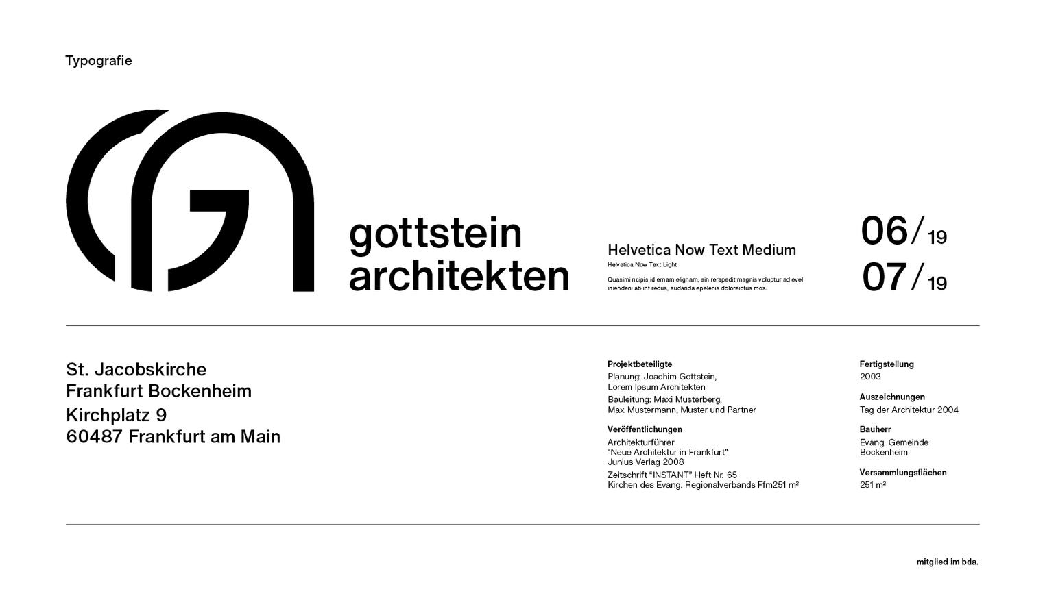 Corporate Design Typografie Moodboard Design Anwendung