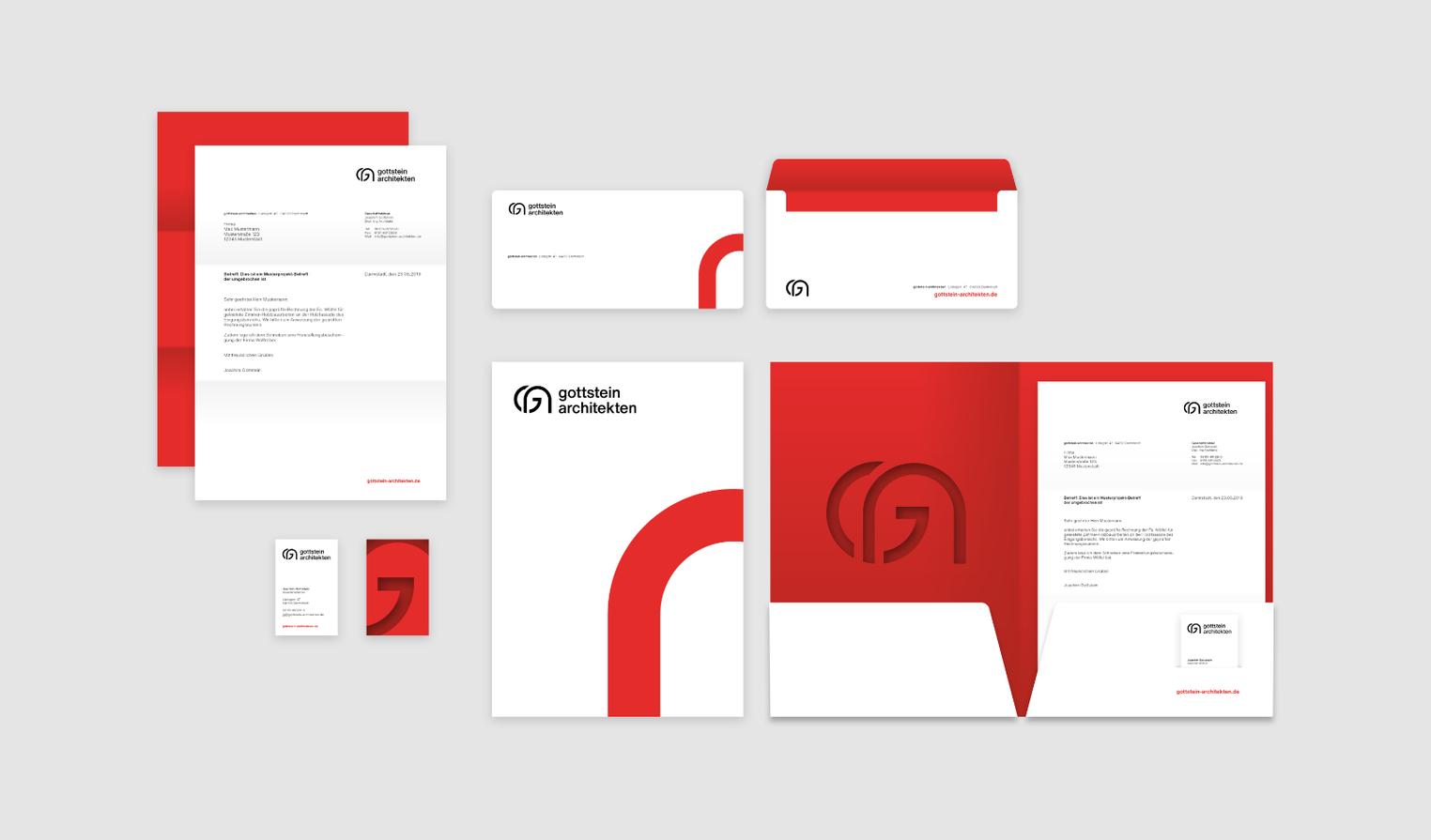 Corporate Design Geschäftsausstattung Stationery Architecture