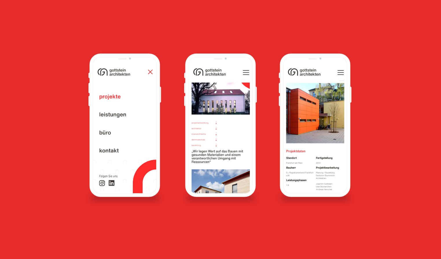 Responsive Webdesign Smartphone Ansicht