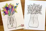 Postkarten, glänzend mit Illustrationen von silvanillion