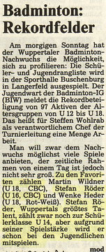 WZ von 10.1991 Wuppertaler RLT Jugend