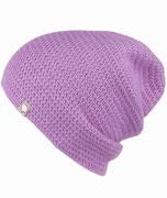 Unisex Baby Alpaka Mütze Lavendel Häkelmütze Unisex