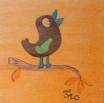Magnet Oiseau carré - 5x5