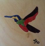 Magnet Colibri carré - 5x5