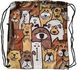 Chilino Backpacker Rucksack Doggies Hunde, braun