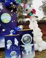 razzo spaziale pianeti palloncini