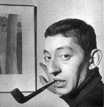 serge Gainsbourg fume la pipe Louis Vuitton