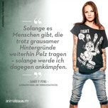 Animal Equality Sandy P. Peng Anti-Pelz-Kampagne