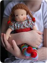 куклы для девочек в вальдорфском стиле из натуральных материалов