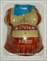 Wiesnbauch Lederhose Tracht Oktoberfest München, kariertes hemd, Halstuch, Edelweiß, Faszination Babybauch
