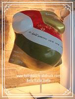 babybauchabdruck bella Italia Stella Sterne als lampe Kinderzimmer in gold italienische Flagge