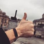 bracelet cuir homme fait main