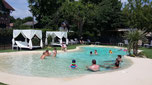 camping gers arros - location vacances famille - structure gonflable jungle