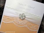 Spitze Broschen Hochzeitkarten Einladungkarten
