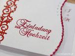 Embossing Hochzeitskarten Einladungskarten