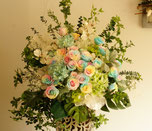 プリザーブドのスタンド花