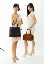 ブランド買取販売SHOP「銀蔵」オンラインマガジン9月号の撮影風景,ユキエ&クミコ