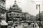 Alte Postkarte vom Pirnaischer Platz