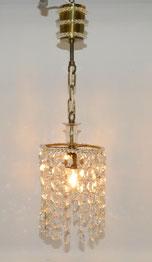 Kleine Kristallglas Lampe, Flurlampe, Messingmontur, Lüster, 58,0 cm, Ø 17,5 cm, € 125,00