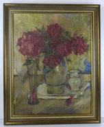 Impressionistisches Stillleben,Gladiolen,Eifelmaler Heinrich Füllbeck,60er Jahre , € 350,00