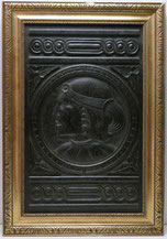 Historismus Wandtafel, Relief, Indianerkopf, handgeschnitzt, Eiche , € 650,00