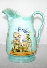 Keramik Kakao Kanne, England 1910, Krieger, Reiter, Bogenschütze,, € 85,00