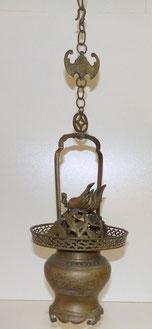 Altes chinesisches Weihrauchgefäß, Bronze, Fledermaus, Flammen, 64,0 cm, € 250,00