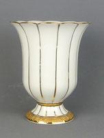 Meissen, Porzellan Vase, X-Form, Matt- und Glanzgold, Tulpenform, , € 245,00