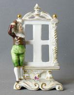 Porzellanfigur, Thüringen, Volkstedt, Junge, Spiegel, Vase,Goldstaffiert,14,5 cm , € 120,00