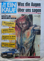 """Titelbild der Osternausgabe von """"Ihr Eikauf"""" Hansi Oesterlein """"Golgotha"""""""