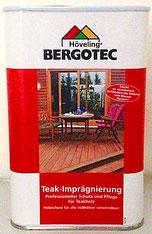 Bergotec Teak-Imprägnierer gegen Vergrauen und Verschmutzung