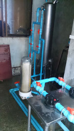 Mini water treatmant plant.