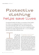 """Protective clothing helps save lives""  Seite 32 - OWI 04 2016"