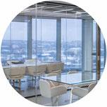 Interno della sede degli uffici di Calzedonia a Mosca progettata dall'architetto Nicolò Nigri