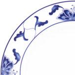 "Blauer Lotus ""blau weiß"" - Motivnummer: 518 (Tatung Porzellan aus Taiwan) / 255 (Porzellan aus China der Marken Li oder Cameo)"