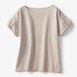 商品番号 18354 ドゥクラッセTシャツ・タックスリーブ(グレーベージュ)/DoCLASSE
