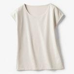 商品番号 19990 ドゥクラッセTシャツ・深ジュエルフレンチ袖(ライトグレー)/DoCLASSE