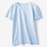 商品番号 18194 ドゥクラッセTシャツ・クルーネック半袖(ペールブルー)/DoCLASSE