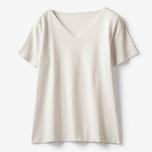 商品番号 19986 ドゥクラッセTシャツ・深Vネック半袖(ライトグレー)/DoCLASSE
