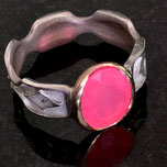 rosa Feueropal, Goldfassung