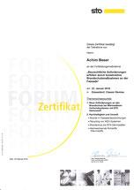 Zertifikat Achim Beser