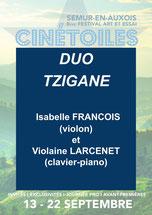 Duo Tzigane - Concert Clôture du Festival - Dimanche 22 septembre - Mont Drejet