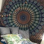 Blaues Mandala Wandtuch