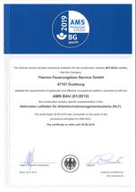AMS Bau Zertifikat Thermo Feuerungsbau GmbH