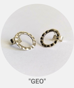 """Collection Géo, boucles d'oreilles """"fleurs"""", argent"""